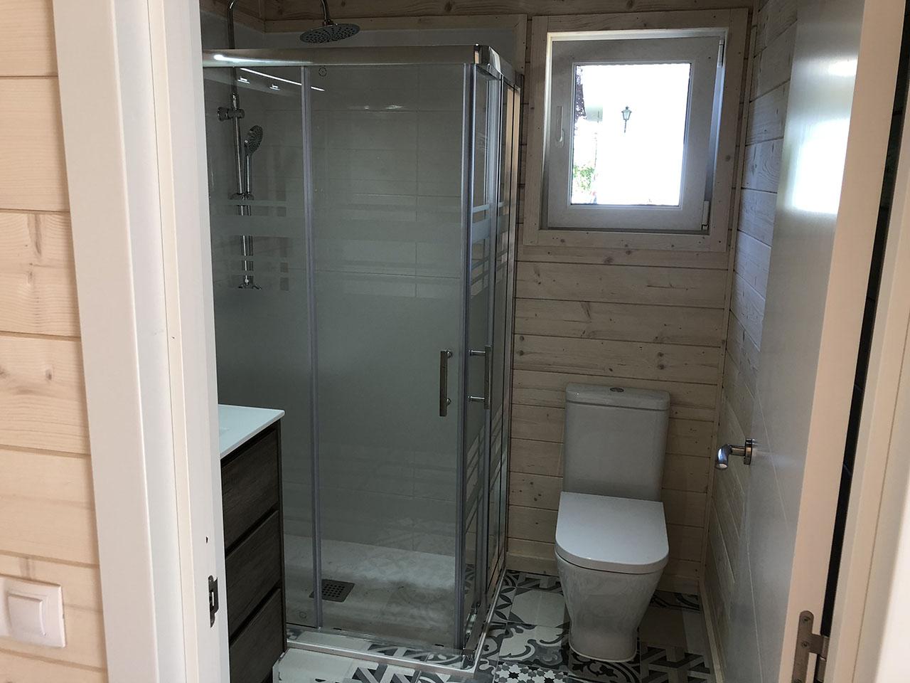 casetas de madera habitables con baño
