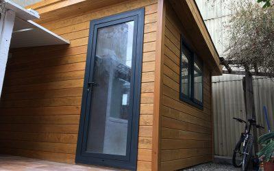 Casa de madera para terrazas, solución de espacio